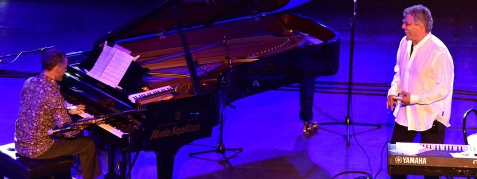 Giovanni Ceccarelli perfoming with Ivan Lins this summer
